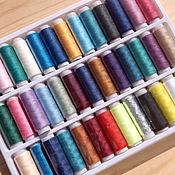 Материалы для творчества ручной работы. Ярмарка Мастеров - ручная работа Набор ниток для шитья 39 цветов. Handmade.