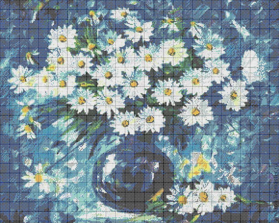 Вышивка бисером, цветы