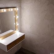 Гардеробы ручной работы. Ярмарка Мастеров - ручная работа Гардеробы: Зеркало гримерное с подсветкой + столик для хранения.. Handmade.