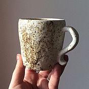 """Посуда ручной работы. Ярмарка Мастеров - ручная работа Кружка """"Белая в крапинку"""". Handmade."""