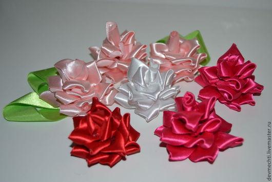 Размер - 6-7 см 1 шт. -70 руб. Цвета: белый,розовый,фуксия, красный (возможны другие цвета)