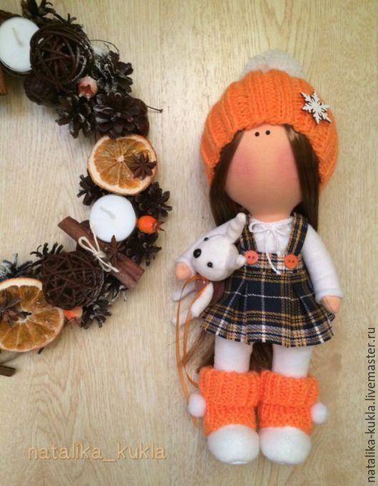 Коллекционные куклы ручной работы. Ярмарка Мастеров - ручная работа. Купить Интерьерная кукла. Handmade. Рыжий, интерьерная кукла, хлопок