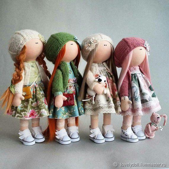 Olivia Textile doll handmade, Dolls, Kiev,  Фото №1