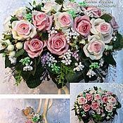 """Цветы и флористика ручной работы. Ярмарка Мастеров - ручная работа Топиарий-""""Нежность роз"""". Handmade."""