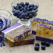 Soap handmade. Livemaster - original item Soap Blueberry and cornflower. Handmade.