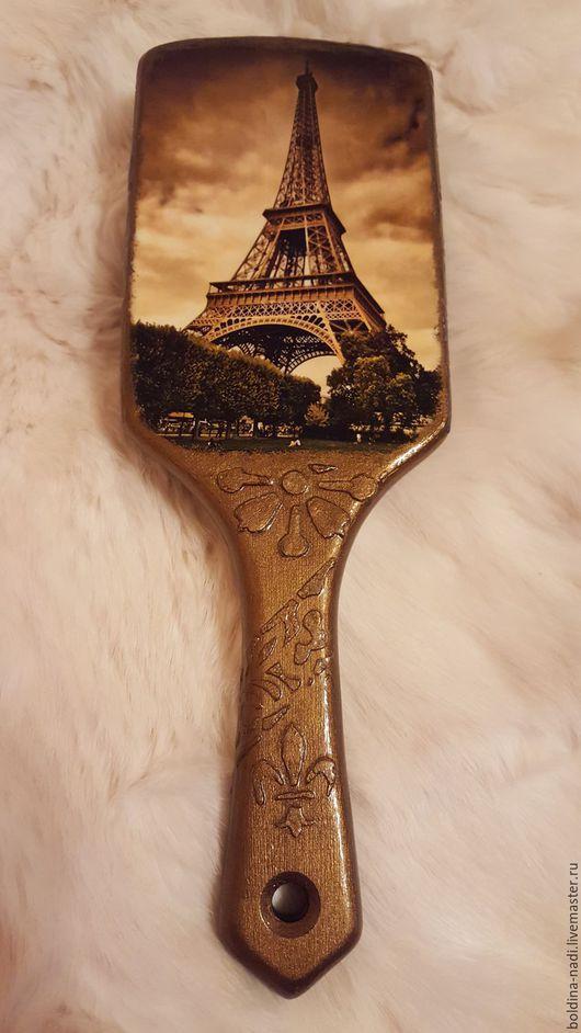"""Гребни, расчески ручной работы. Ярмарка Мастеров - ручная работа. Купить Расчёска на заказ """"Париж"""". Handmade. Комбинированный, расческа из дерева"""