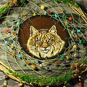 """Ловец снов ручной работы. Ярмарка Мастеров - ручная работа """"Рысь"""" тотемный ловец снов. Handmade."""