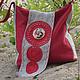 linen bag, summer bag, sewn bag, crossbody bag, bag in the Slavic style, a gift girlfriend, mother, sister, friend, author Julia Linen tale
