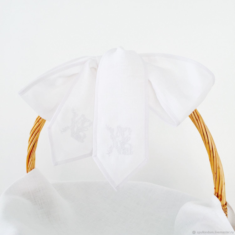 Подарки на Пасху ручной работы. Ярмарка Мастеров - ручная работа. Купить Бант с вышивкой на пасхальную корзину. Handmade. Пасха