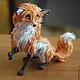 """Игрушки животные, ручной работы. Ярмарка Мастеров - ручная работа. Купить фигурка """"осенняя лисичка"""" (лиса игрушка осеннего леса). Handmade."""