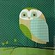 Совы крупные, фон темно-зеленый - 183 Салфетка для декупажа Декупажная радость