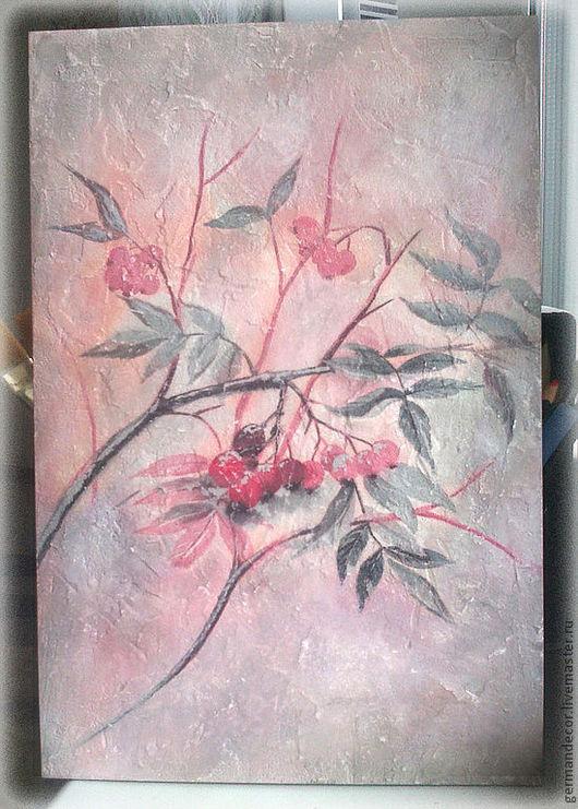 """Картины цветов ручной работы. Ярмарка Мастеров - ручная работа. Купить Панно """"Утренний туман"""". Handmade. Бледно-розовый, панно"""