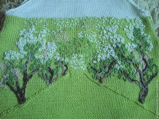 Одежда для девочек, ручной работы. Ярмарка Мастеров - ручная работа. Купить сарафан Яблоневый сад вязаный детский для девочки. Handmade.