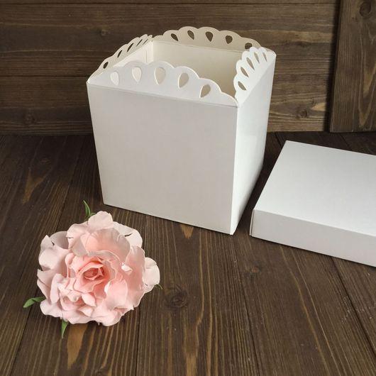 Упаковка ручной работы. Ярмарка Мастеров - ручная работа. Купить Большая картонная коробка с крышкой. Handmade. Упаковка для цветов, для цветов