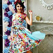 Одежда ручной работы. Ярмарка Мастеров - ручная работа Каламбур платье миди с вырезом. Handmade.