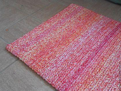 Текстиль, ковры ручной работы. Ярмарка Мастеров - ручная работа. Купить коврик вязаный