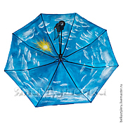 Аксессуары handmade. Livemaster - original item Umbrella parasol hand painted clouds and sky. Handmade.