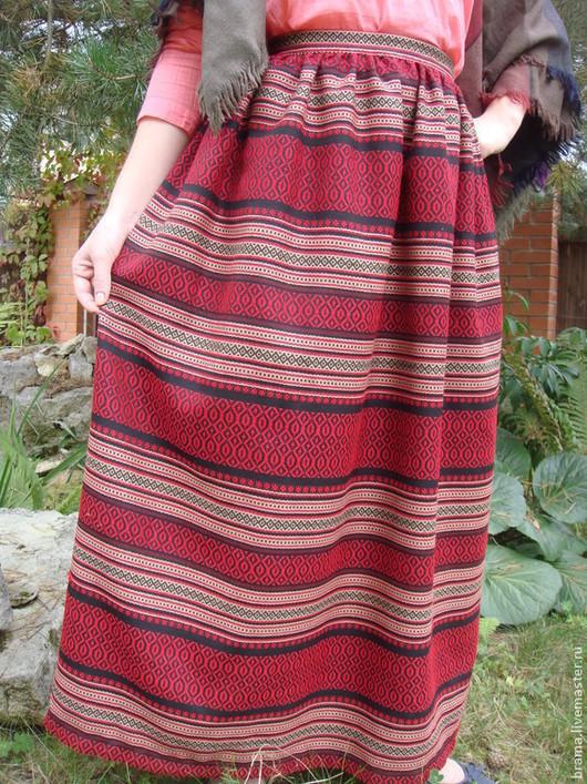 Одежда ручной работы. Ярмарка Мастеров - ручная работа. Купить юбка панева. Handmade. Ярко-красный, панева