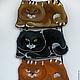 Женские сумки ручной работы. Заказать Сумочка-кармашек Black cat. Хельга и кот. Ярмарка Мастеров. Кармашек, черный кот