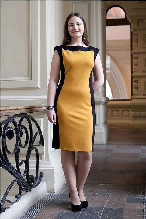Черно желтое платье с доставкой