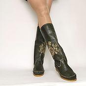 Обувь ручной работы handmade. Livemaster - original item ROSA olive / soft calf leather Boots /. Handmade.
