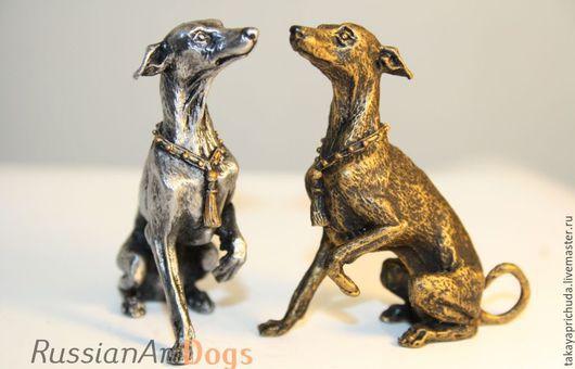 Статуэтки ручной работы. Ярмарка Мастеров - ручная работа. Купить ЛЕВРЕТКА - статуэтка (оловянная миниатюрная фигурка собаки). Handmade. левретка
