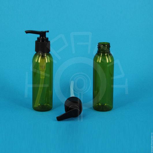 Упаковка ручной работы. Ярмарка Мастеров - ручная работа. Купить Флакон оливковый с дозатором для мыла 100 мл.. Handmade. Коричневый