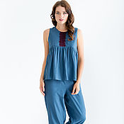 Одежда handmade. Livemaster - original item Pajamas made of viscose and lace. Handmade.