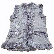 Одежда handmade. Livemaster - original item Women`s vest made of sheepskin and tuscany gray. Handmade.