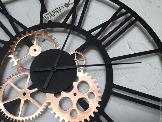 """Часы для дома ручной работы. Ярмарка Мастеров - ручная работа. Купить Часы 50см с медью """"Kaiku-vask"""". Handmade. Часы"""