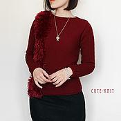 Одежда handmade. Livemaster - original item Sweater for women knitted with fur trim. Handmade.