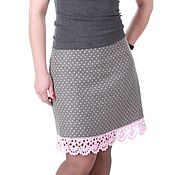 Одежда handmade. Livemaster - original item Warm skirt in polka dot. Handmade.