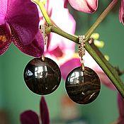 Украшения handmade. Livemaster - original item Guardian - earrings Falcon eye. Handmade.