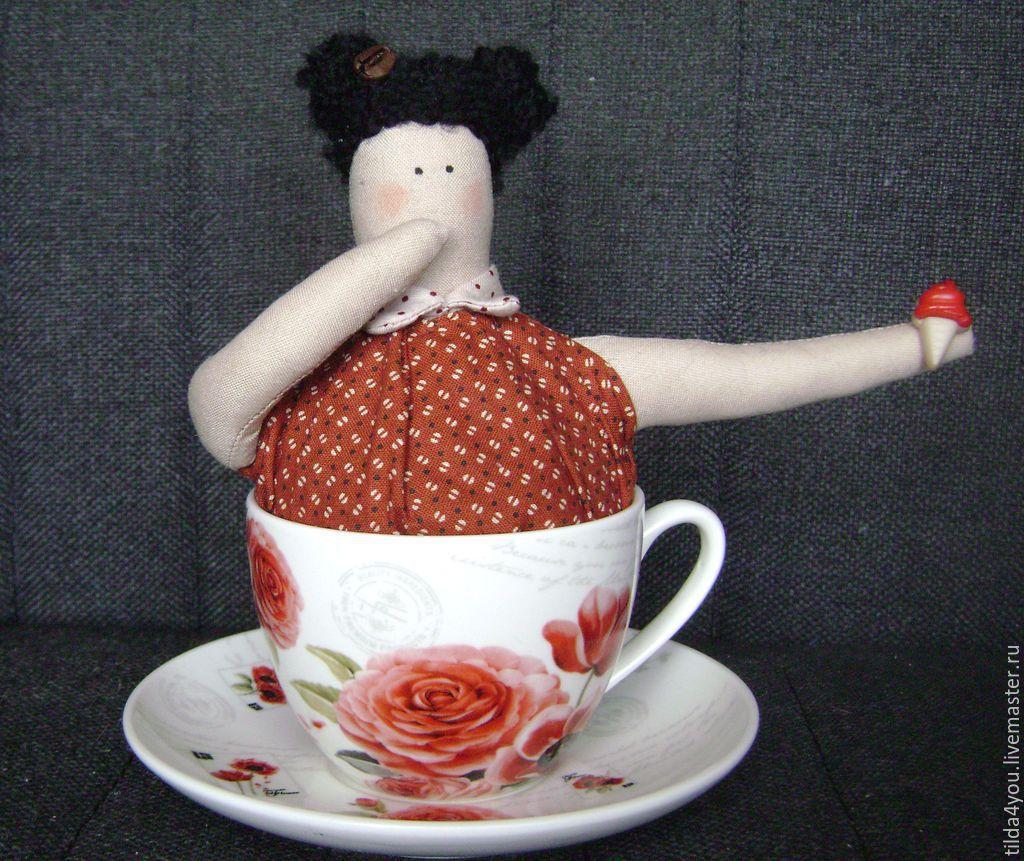 Куклы Тильды ручной работы. Ярмарка Мастеров - ручная работа. Купить Чайная Тильдочка. Handmade. Гостиная, подарок женщине, шерсть