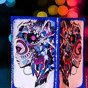 """Канцелярские товары ручной работы. Ярмарка Мастеров - ручная работа Кожаная обложка для паспорта """"Моя музыка"""".. Handmade."""