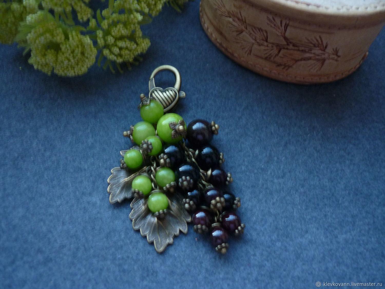 """Брелок для ключей, украшение на сумку """"Черная смородина"""""""