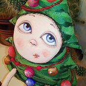 """Куклы и игрушки ручной работы. Ярмарка Мастеров - ручная работа текстильная грунтованная кукла """"Ёлка Лизонька"""". Handmade."""