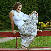 Одежда ручной работы. Ярмарка Мастеров - ручная работа Шаровары Восточная нега. Handmade.