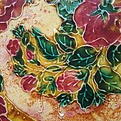 Тарелки ручной работы. Ярмарка Мастеров - ручная работа Тарелка керамическая для фруктов Цветочный ветер. Handmade.