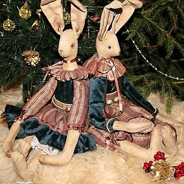 Куклы и игрушки ручной работы. Ярмарка Мастеров - ручная работа Винтажные зайцы. Handmade.
