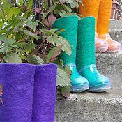 Обувь ручной работы. Ярмарка Мастеров - ручная работа Валенки детские цветные с галошами. Handmade.