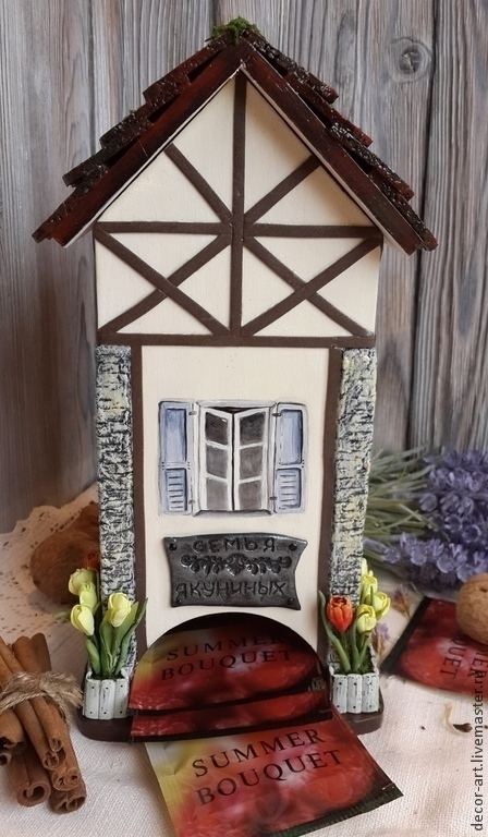 Чайный домик ТЮЛЬПАНЫ. Чайный домик именной.  Анастасия   (Decor-art)