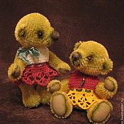 Куклы и игрушки ручной работы. Ярмарка Мастеров - ручная работа Мишки Тина и Молли. Handmade.