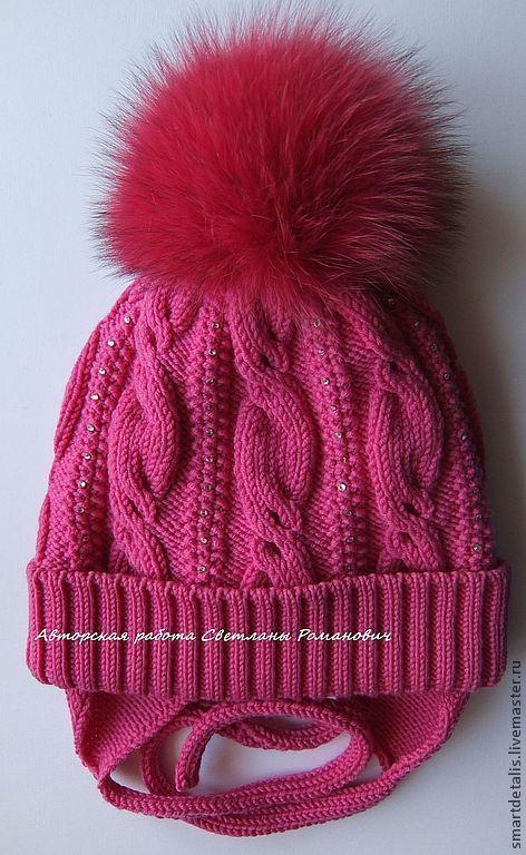 Шапки и шарфы ручной работы. Ярмарка Мастеров - ручная работа. Купить Двойная зимняя шапочка из мериносовой шерсти для девочки. Handmade.