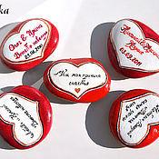 """Свадебный салон ручной работы. Ярмарка Мастеров - ручная работа """"Любовь на камне"""" камушек-магнит. Handmade."""