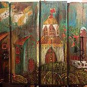 Картины и панно ручной работы. Ярмарка Мастеров - ручная работа Русский город. Handmade.