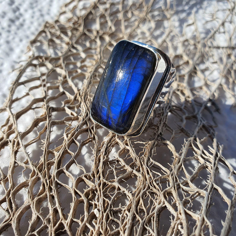 Кольцо с синим лабрадором, Кольца, Омск,  Фото №1