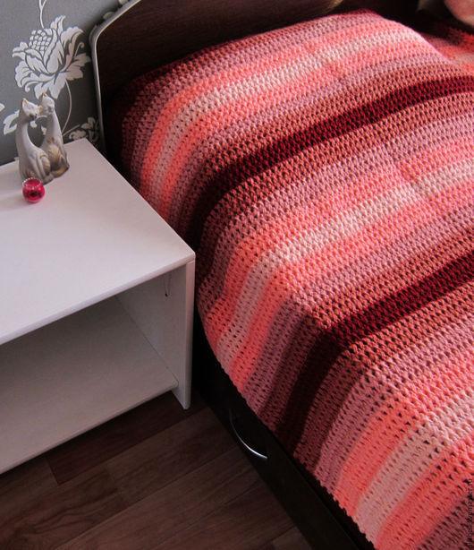 Текстиль, ковры ручной работы. Ярмарка Мастеров - ручная работа. Купить Плед-покрывало большой. Handmade. Бордовый, прованс, плед