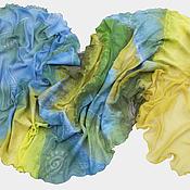 Аксессуары ручной работы. Ярмарка Мастеров - ручная работа Валяный шарф Планета Людей. Handmade.