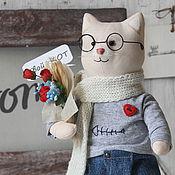 """Куклы и игрушки handmade. Livemaster - original item """"Your cat"""" a toy made of fabric for home decor. Handmade."""